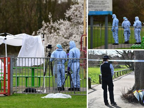 Mum found girl, 17, stabbed to death with 'knife still in her back' in park