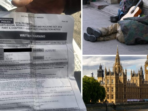 Homeless man 'threatened with £20,000 fine' for sleeping outside Parliament