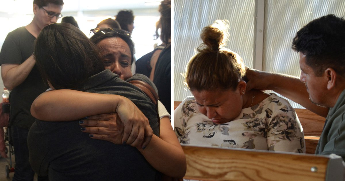 Terrified migrants cross US border begging to be reunited with their children