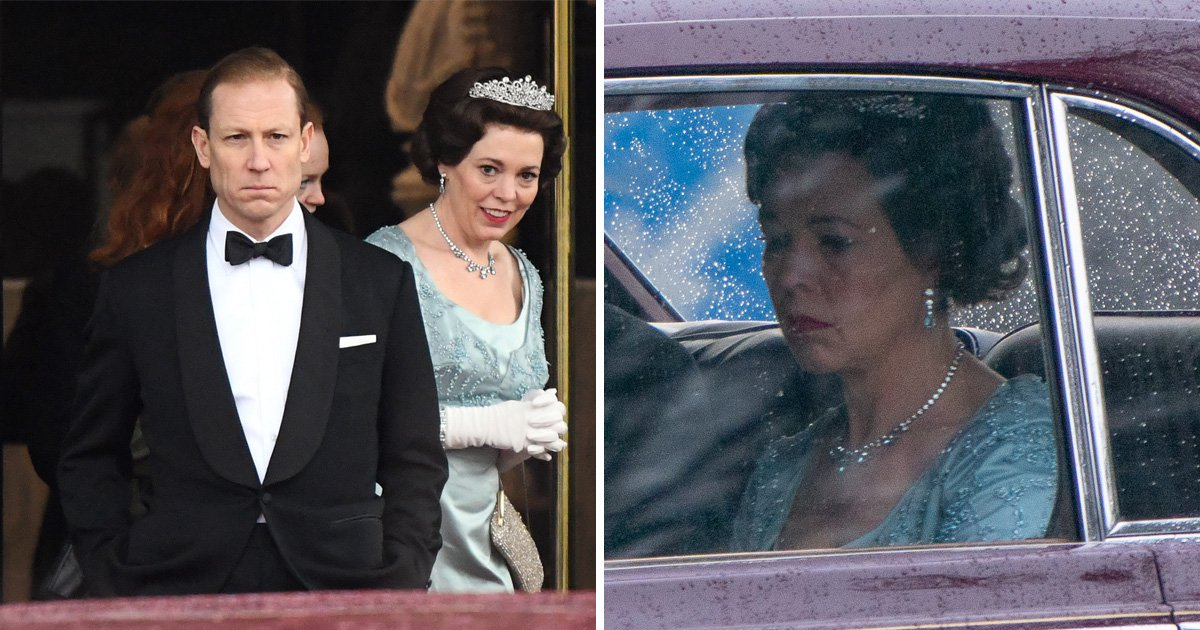Olivia Colman returns to The Crown series 3 as Queen looks downhearted in trip through London