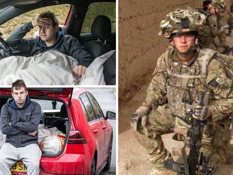 Hero soldier who survived being shot in face by Taliban now living in his car