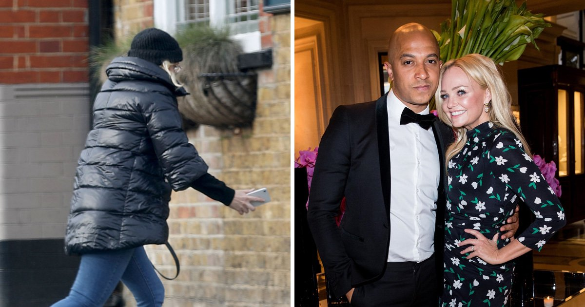 Emma Bunton in a rush to get to registry office 'to apply for marriage licence' for wedding to Jade Jones