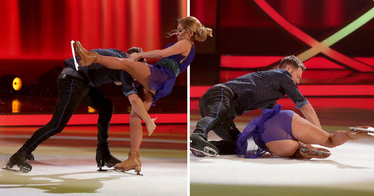 Brian McFadden crashes out of Dancing On Ice after mortifying fall in skate-off