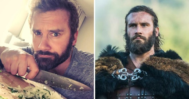 Vikings star Clive Standen preps for new show in hotel and it's a messy disaster