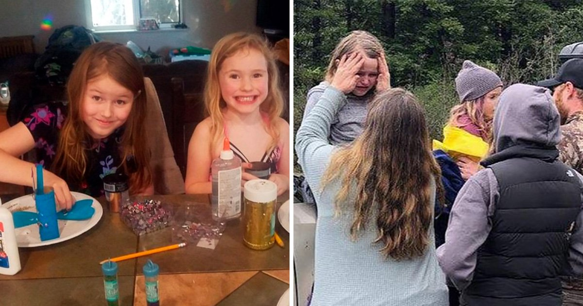 Young sisters who vanished in woods found alive 44 hours later