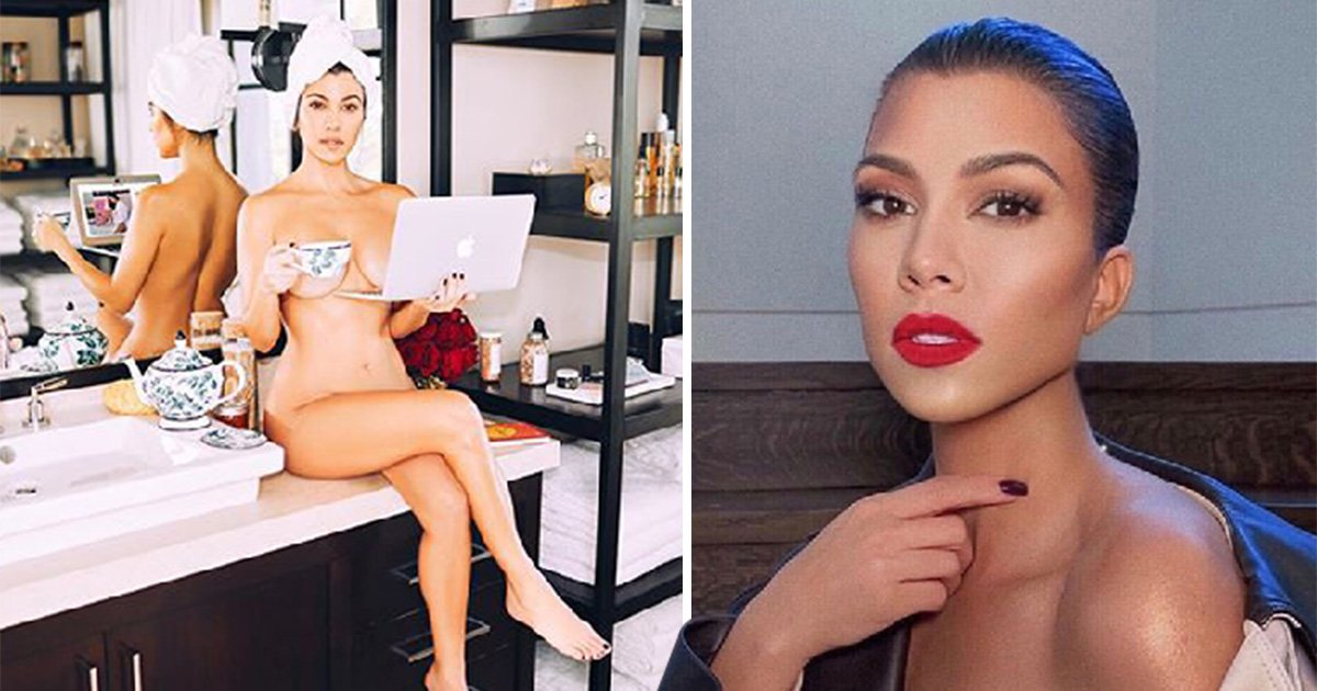 Kourtney Kardashian bosses it as she strips down to nothing to reveal her latest business venture