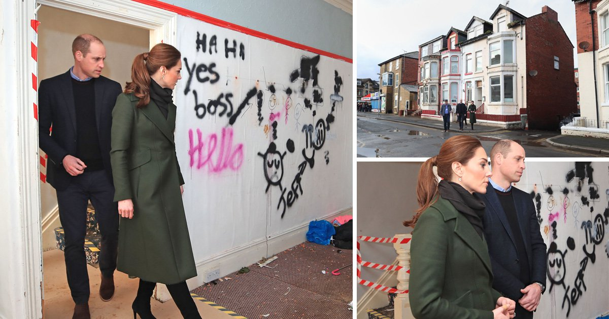 Kate and Wills shocked by state of slum housing in Blackpool