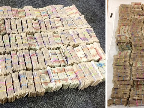 Police found this huge stash of cash in the back of a van