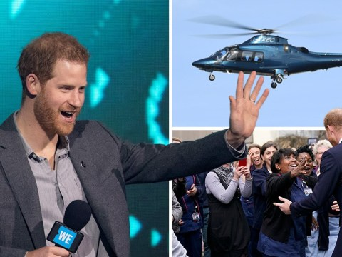 Prince Harry criticised for taking helicopter 48 hours ahead of climate change speech