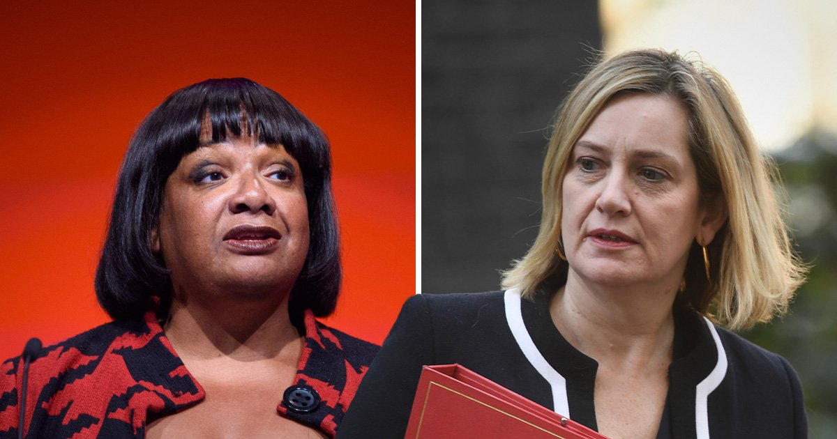 Amber Rudd referred to Diane Abbott as a 'coloured woman'
