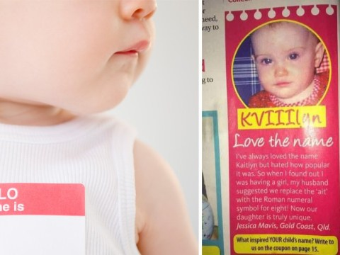 Parents mocked online for calling their baby daughter KVIIIlyn
