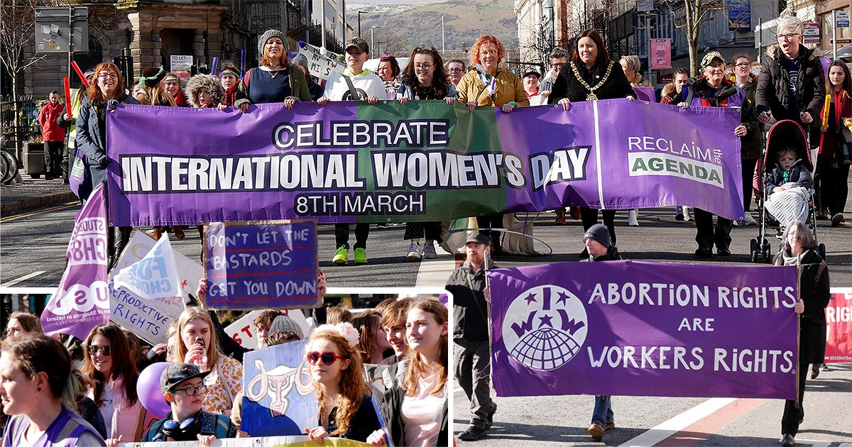 Women demand access for safe and legal abortions in march on Belfast