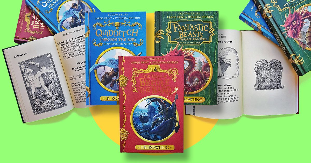 There's a new range of Harry Potter books that have been adapted for people with dyslexia