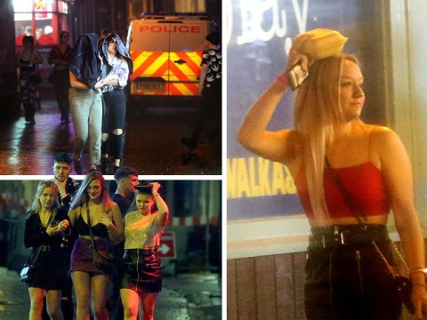No brollies in Blackpool as teens use kebab boxes to keep hair dry