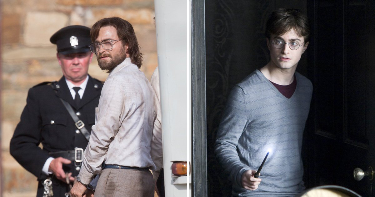 Daniel Radcliffe is far from Harry Potter as he rocks facial hair to play escaped prisoner