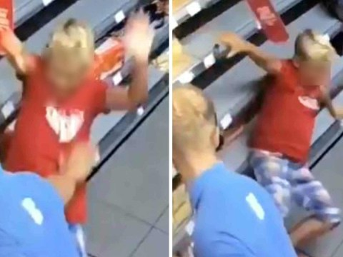 Co-op worker filmed pushing boy who punched him 'used reasonable force'