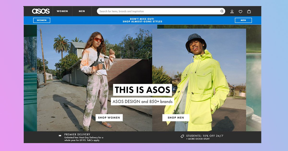 ASOS is looking to cast new models of all shapes and sizes for its site