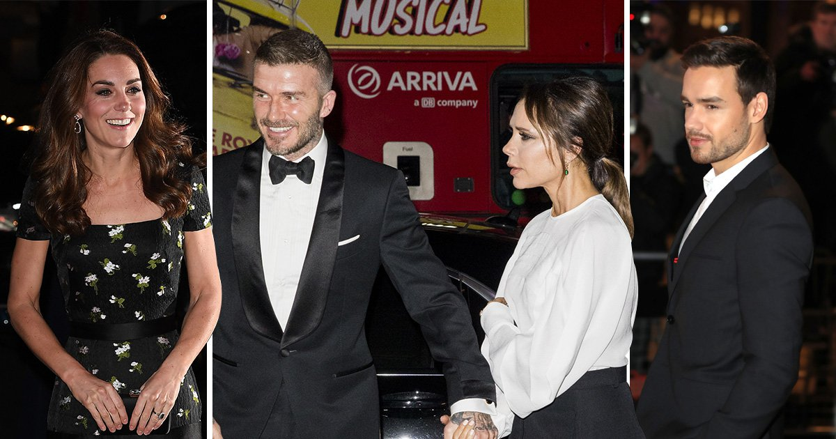 Victoria and David Beckham mingle with royalty as they join Duchess Of Cambridge for swanky affair