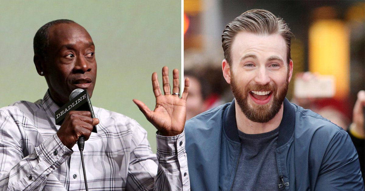 Avengers' Chris Evans starts war with Don Cheadle he really can't finish about crisps