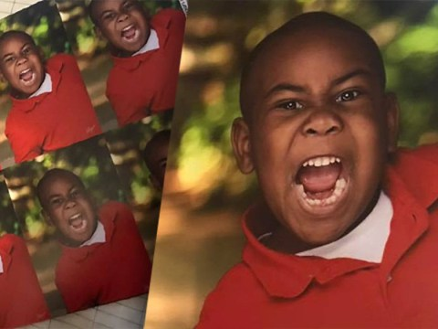 Boy's mid-scream school photo shows exactly how he feels about picture day