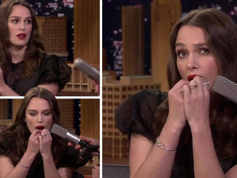 Keira Knightley playing Despacito on her teeth might be the weirdest thing you'll see