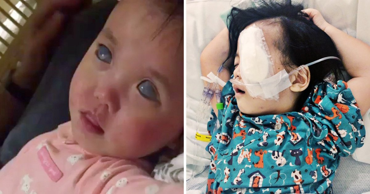 Miracle recovery of girl, 5, whose silver-coloured eyes had to be removed