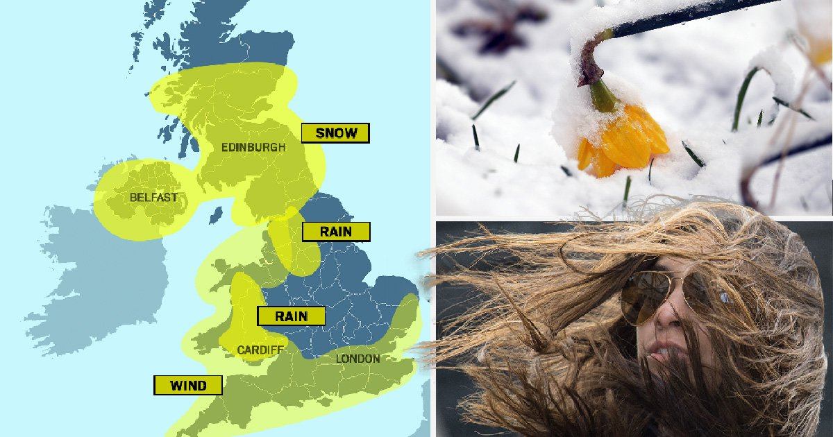 Snow, rain and 70mph winds on the way for storm-battered Britain