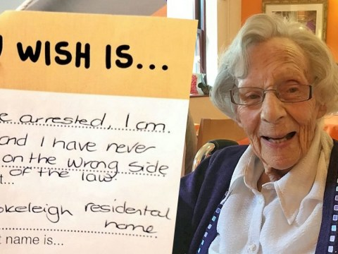 Pensioner, 104, to be arrested for first time after revealing it as her 'wish'