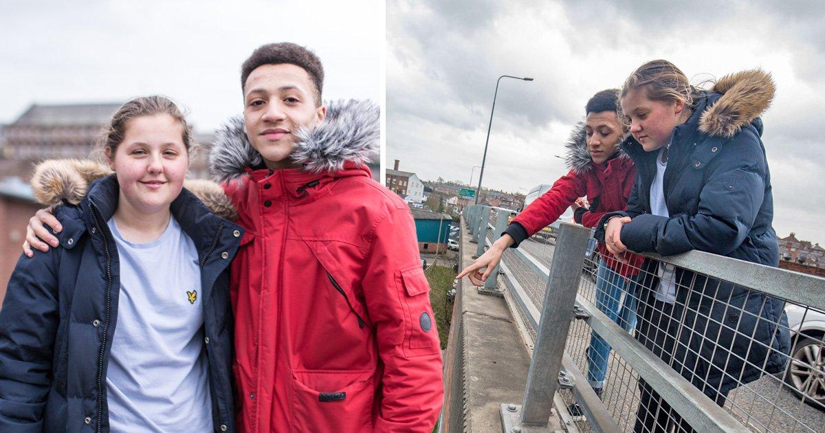 Heroic teens save homeless man from jumping off 20ft bridge
