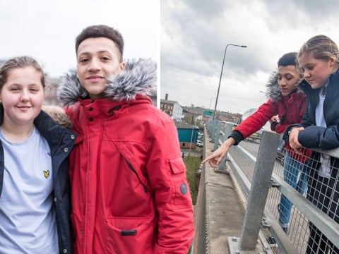 Heroic teens save homeless man from jumping off 20ft bridge