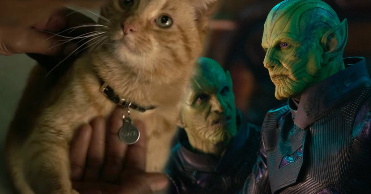 Captain Marvel's Goose the cat didn't like filming with Skrulls and we don't blame him