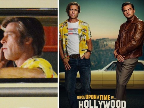 Once Upon A Time In Hollywood poster takes us back to the sixties with Leo and Brad