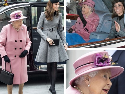 Queen and Kate share a blanket on way to second ever official joint trip