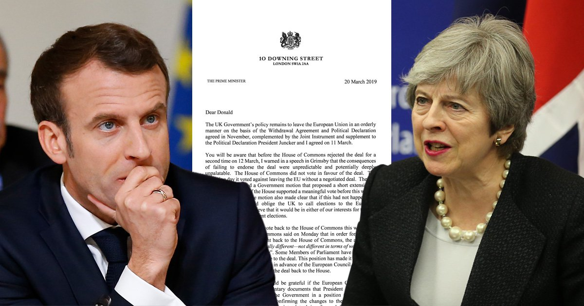 French say they'll block Theresa May's Brexit delay
