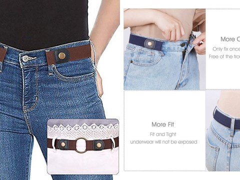 Jeans gaping at the back will be a thing of the past with this £8.50 buckle-less belt