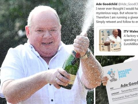 No, EuroMillions winner Ade Goodchild is not giving away £10 million