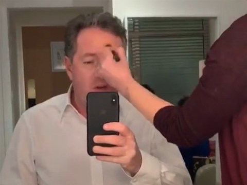 Piers Morgan in agony as Ant McPartlin's ex-wife Lisa Armstrong plucks eyebrows