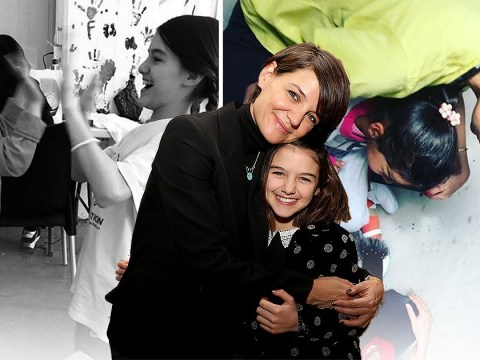 Katie Holmes and daughter Suri spent week at refugee camp in Greece