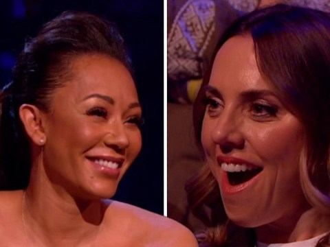 Mel C's reaction to Mel B spilling details of sex with Geri Horner to Piers Morgan is priceless