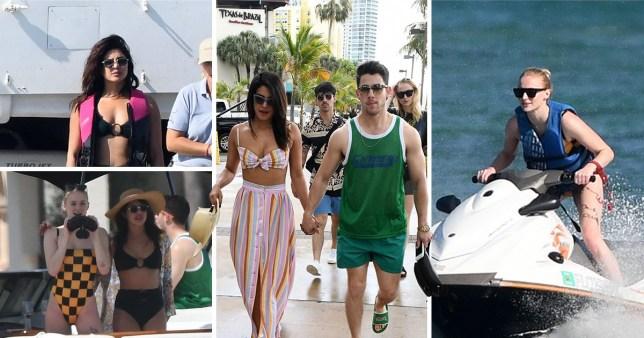 SEC_58471557 Nick Jonas and Priyanka Chopra still have honeymoon glow during couples getaway with Joe and Sophie Turner