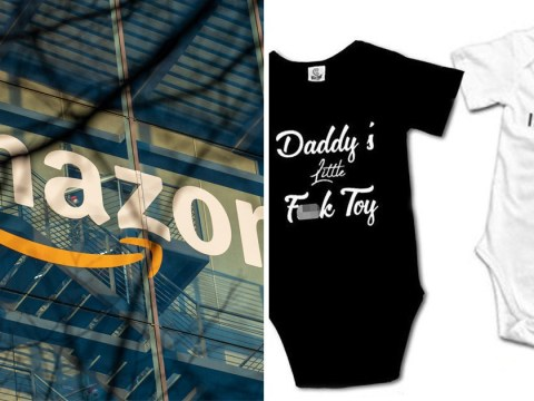 Baby clothes with 'daddy's little f**k toy' sold on Amazon