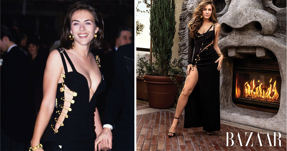 Liz Hurley recreates THAT iconic safety pin dress 25 years on: 'I was so unprepared for what happened that night'