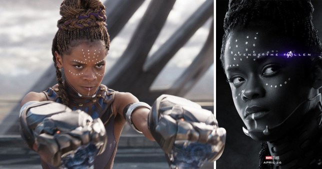Avengers Endgame - why is Shuri's poster black and white?