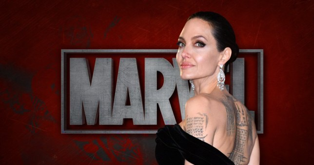 Angelina Jolie who is tipped to make her Marvel debut