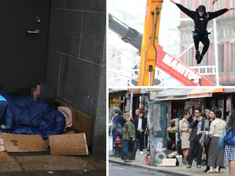 Rough sleepers 'moved on' from area while homeless actors film Spider-Man
