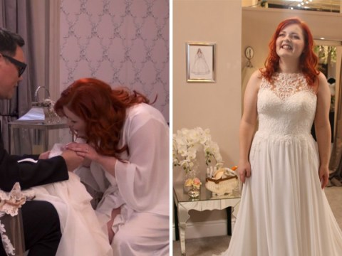 Blind Say Yes to the Dress bride gets her sparkle back as she catches 'shimmer of wedding dress'