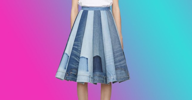 2a0fab1653 If you're bored of your denim, why not get this £3,025 skirt made of jeans  waistbands?
