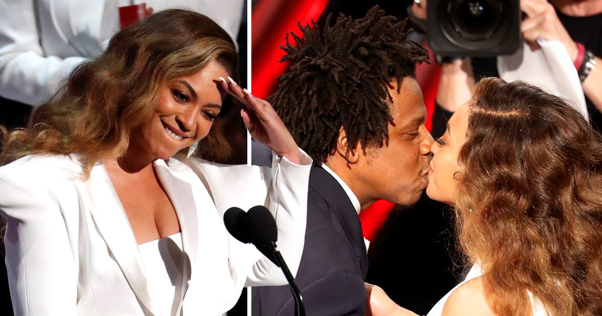 Beyonce sweetly kisses Jay Z at NAACP Image Awards in rare show of PDA after big wins