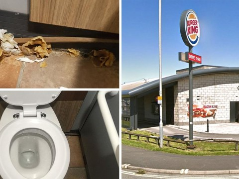 Woman finds giant fungus growing inside Burger King toilet