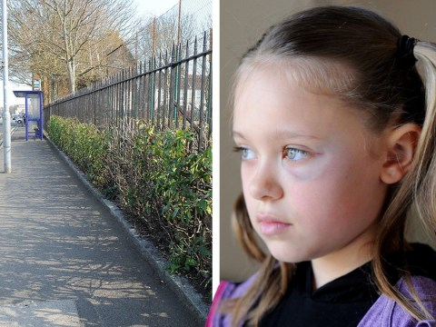 Schoolgirl punched in face by stranger while cycling home from school